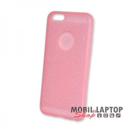Szilikon tok Apple iPhone 6 / 6S csillámos rózsaszín