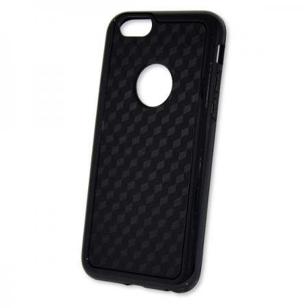 Szilikon tok Apple iPhone 6 / 6S fekete karbon minta