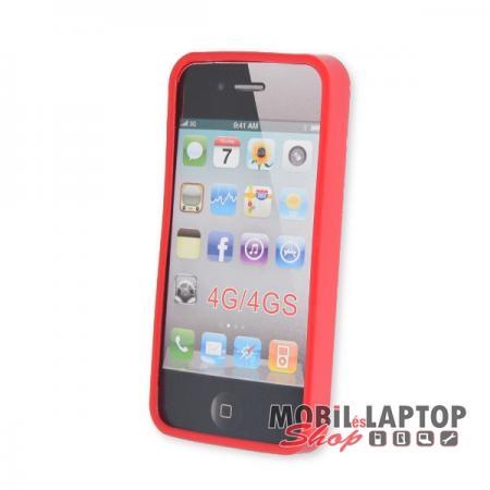 Szilikon tok Apple iPhone 6 / 6S piros
