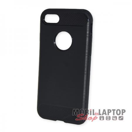 "Szilikon tok Apple iPhone 7 / 8 ( 4,7"" ) fekete karbon minta"