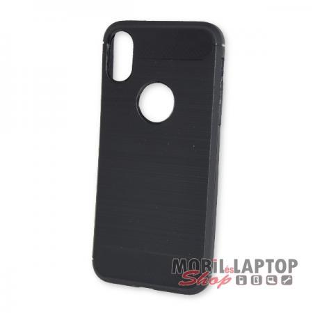 "Szilikon tok Apple iPhone X. ( 5,8"" ) fekete karbon minta"