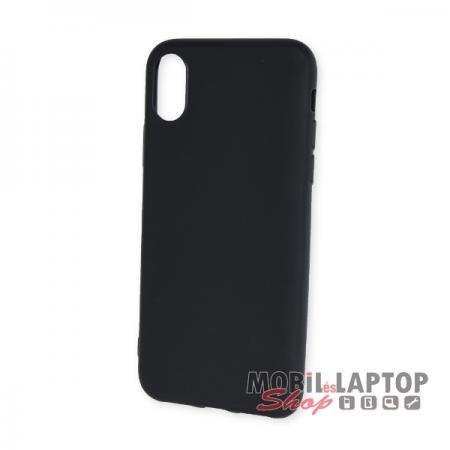 """Szilikon tok Apple iPhone X. ( 5,8"""" ) ultravékony matt fekete"""
