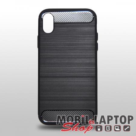 "Szilikon tok Apple iPhone XR ( 6,1"" ) fekete karbon minta"