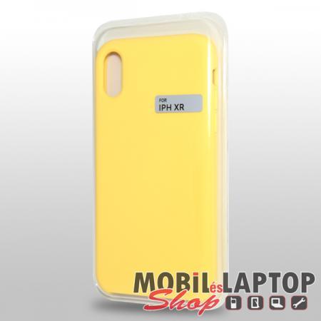 """Szilikon tok Apple iPhone XR ( 6,1"""" ) Soft Touch sárga"""