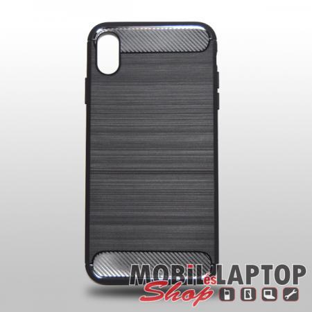 """Szilikon tok Apple iPhone XS Max ( 6,5"""" ) fekete karbon minta"""