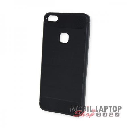 Szilikon tok Huawei P10 Lite fekete karbon minta