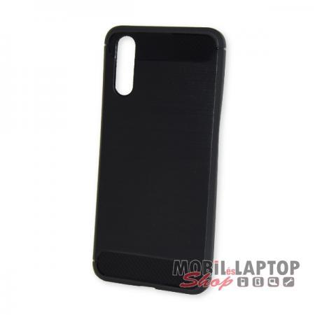 Szilikon tok Huawei P20 fekete karbon minta