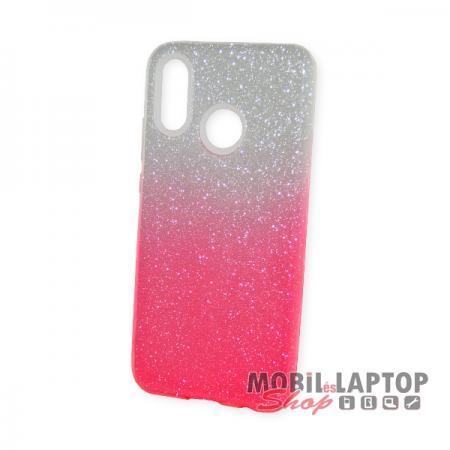 Szilikon tok Huawei P20 Lite csillámos rózsaszín-átlátszó smirgli