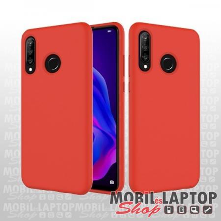 Szilikon tok Huawei P30 Lite ultravékony matt piros