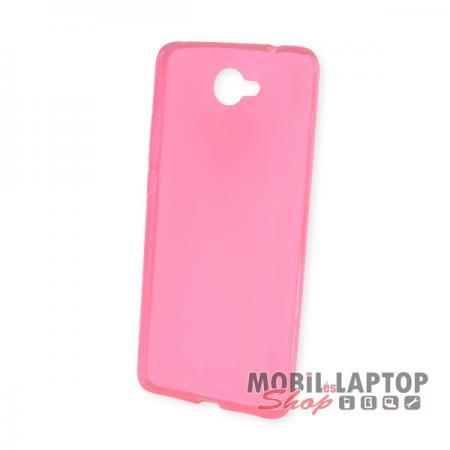 Szilikon tok Huawei Y7 ultravékony rózsaszín