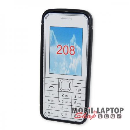 Szilikon tok Nokia 208 fekete / füst