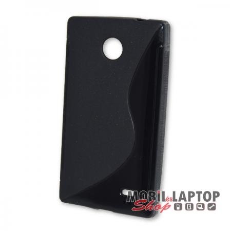 Szilikon tok Nokia X RM-980 fekete