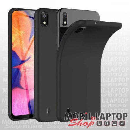Szilikon tok Samsung A107 Galaxy A10S ultravékony matt fekete