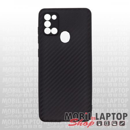 Szilikon tok Samsung A217 Galaxy A21s fekete karbon minta