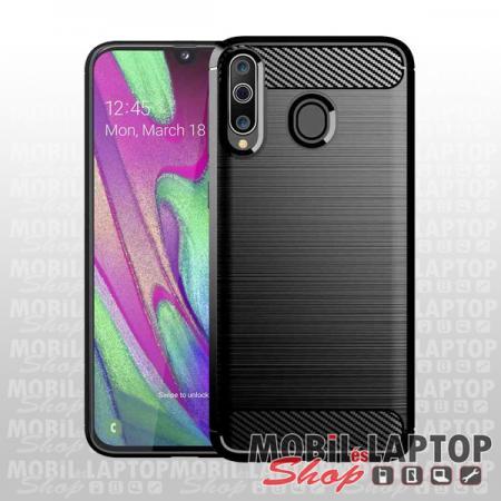 Szilikon tok Samsung A405 Galaxy A40 fekete karbon minta