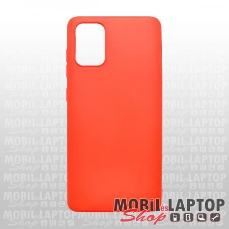 Szilikon tok Samsung A515 Galaxy A51 Soft Touch piros