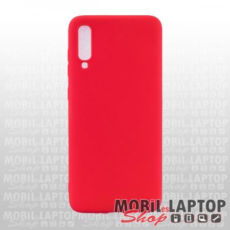 Szilikon tok Samsung A705 / A707 Galaxy A70 / A70s ultravékony matt piros