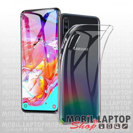 Szilikon tok Samsung A705 Galaxy A70 ultravékony átlátszó