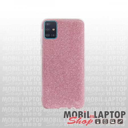 Szilikon tok Samsung A715 Galaxy A71 csillámos rózsaszín