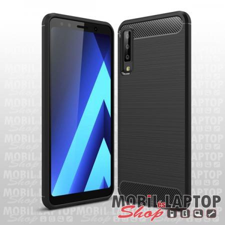 Szilikon tok Samsung A750 Galaxy A7 (2018) fekete karbon minta
