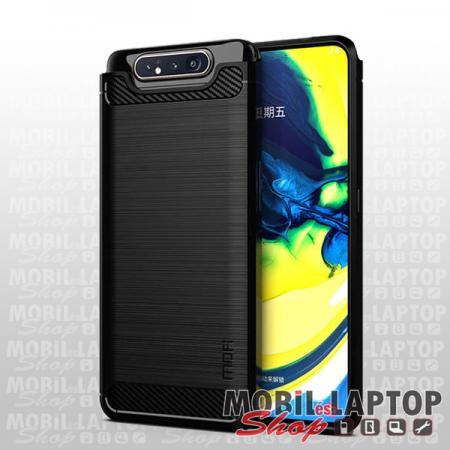 Szilikon tok Samsung A805 Galaxy A80 fekete karbon minta