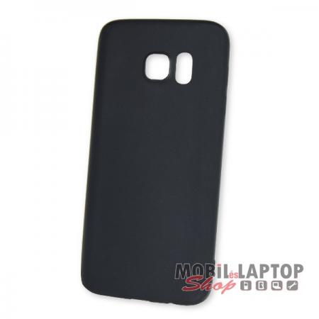 Szilikon tok Samsung G930 Galaxy S7 ultravékony matt fekete