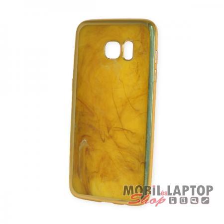 Szilikon tok Samsung G935 Galaxy S7 Edge arany márvány minta