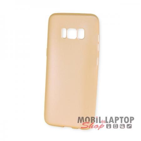 Szilikon tok Samsung G950 Galaxy S8 ultravékony matt arany