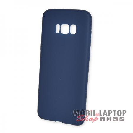 Szilikon tok Samsung G955 Galaxy S8 Plus ultravékony matt kék