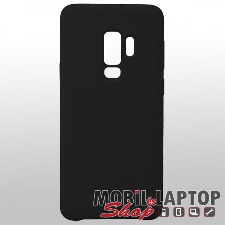 "Szilikon tok Samsung G965 Galaxy S9 Plus ( 6,2"" ) ultravékony matt fekete"