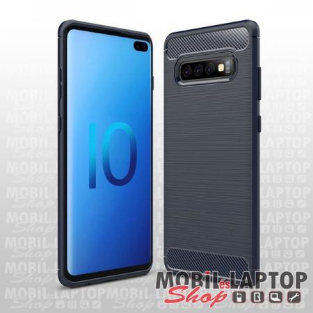 """Szilikon tok Samsung G975 Galaxy S10 Plus ( 6,4"""" ) fekete karbon minta"""
