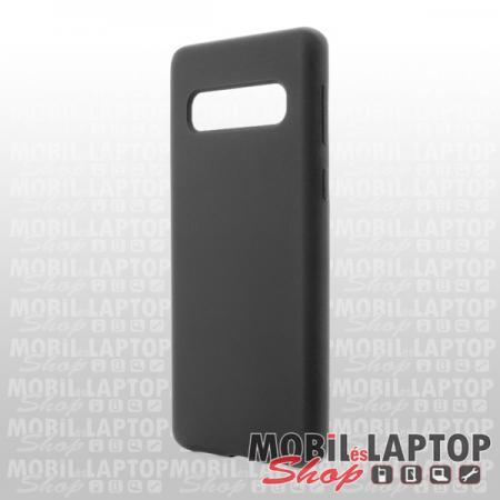 "Szilikon tok Samsung G975 Galaxy S10 Plus ( 6,4"" ) Soft Touch fekete"