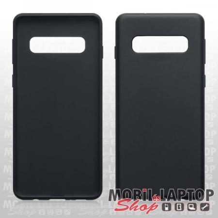 "Szilikon tok Samsung G975 Galaxy S10 Plus ( 6,4"" ) ultravékony matt fekete"