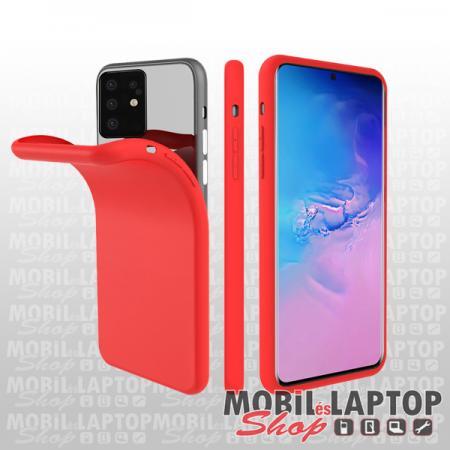 "Szilikon tok Samsung G980 Galaxy S20 ( 6,2"" ) ultravékony matt piros"