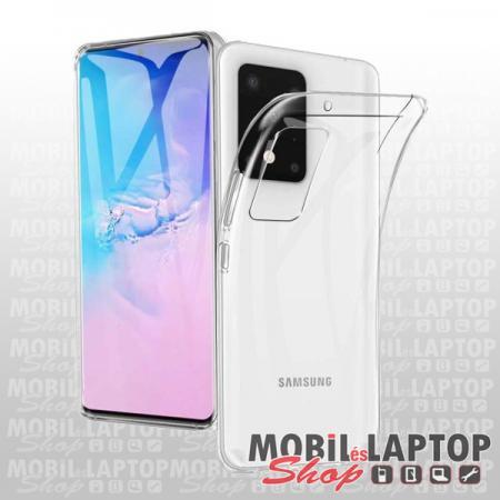 Szilikon tok Samsung G985 Galaxy S20 Plus 2in1 ultravékony átlátszó (elő + hátoldal)