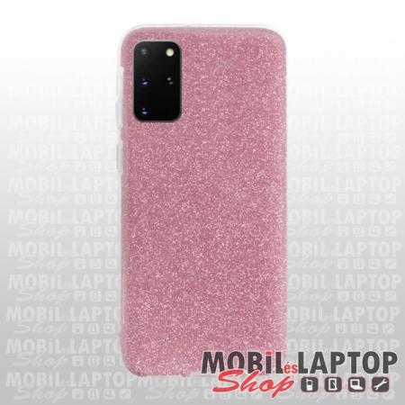 """Szilikon tok Samsung G985 Galaxy S20 Plus ( 6,7"""" ) csillámos rózsaszín"""