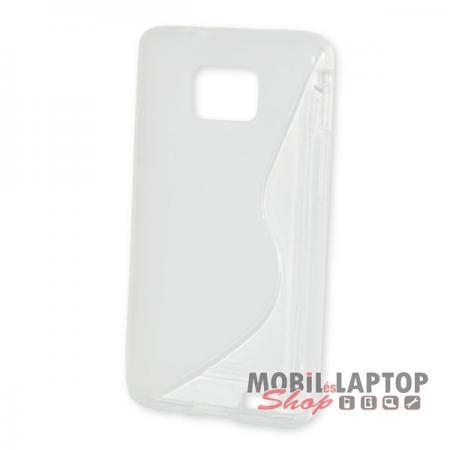 Szilikon tok Samsung I9100 / I9105 Galaxy S2 / S2+ fehér / átlátszó