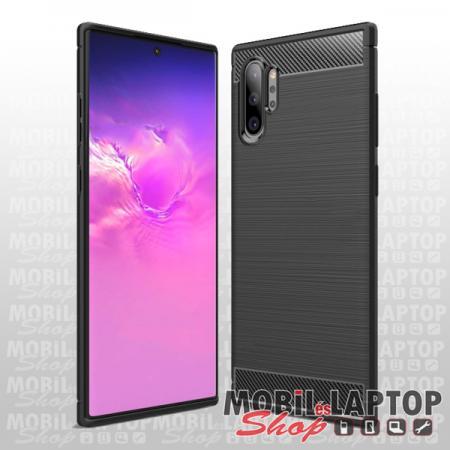 Szilikon tok Samsung N975 Galaxy Note 10 Plus fekete karbon minta
