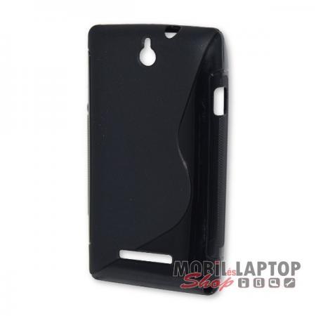 Szilikon tok Sony C1505 / C1605 Xperia E fekete / füst