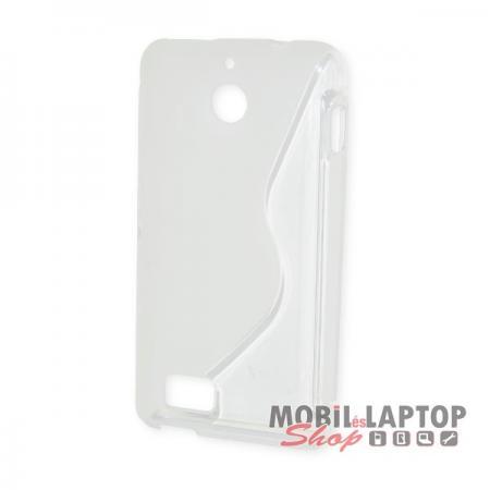 Szilikon tok Sony D2004 / D2005 / D2104 / D2105 Xperia E1 / E1 Dual fehér / átlátszó