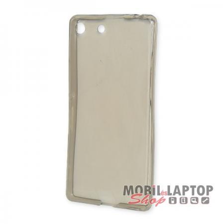 Szilikon tok Sony E5603 / E5606 / E5653 Xperia M5 fekete / füst