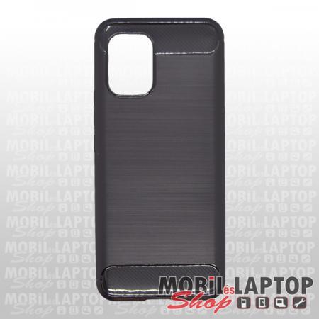 Szilikon tok Xiaomi Mi 10 Lite fekete karbon minta