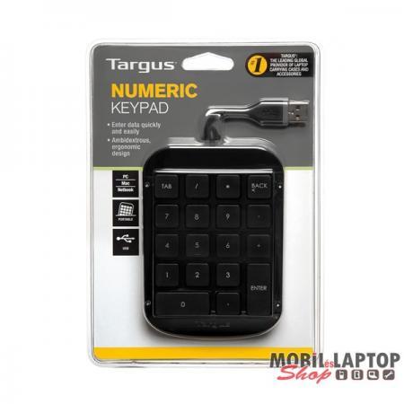 Targus AKP10EU Numeric Keypad USB fekete vezetékes numerikus billentyűzet