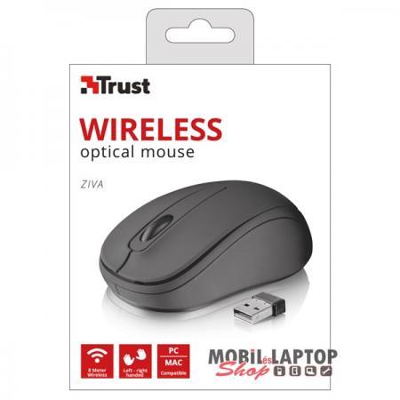 Trust Ziva Compact vezeték nélküli fekete egér
