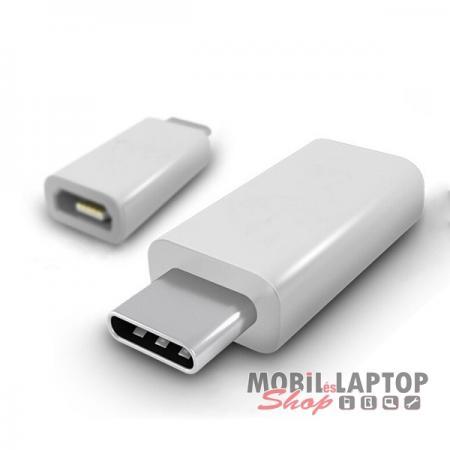 Univerzális Micro USB / USB Type-C átalakító adapter ezüst