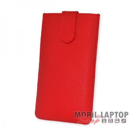 Univerzális tok kihúzható 3 XL méret piros eredeti bőr