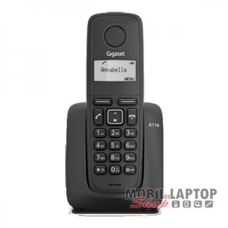 Vezetékes telefon Siemens Gigaset A116 hordozható fekete